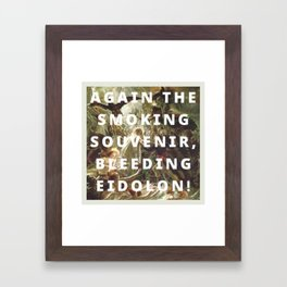 ossian and the eidolons Framed Art Print