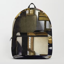 Johannes Vermeer - Lady at the Virginal with a Gentleman, 'The Music Lesson' Backpack