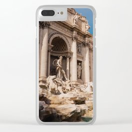 Trevi Fountain III Clear iPhone Case