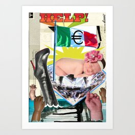 COLLAGE: €urobaby Art Print