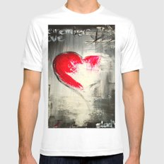 Remember love 2 White MEDIUM Mens Fitted Tee
