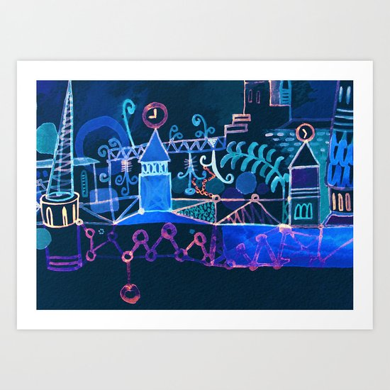 magic city Art Print