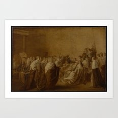John Singleton Copley 1738–1815   Study for 'The Collapse of the Earl of Chatham' 2 Art Print
