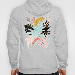 Veronica, Tropical Eclectic Bold Monstera Palm Illustration Nature Modern Colorful Jungle Hoody