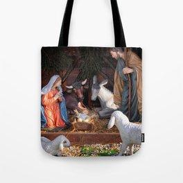 Christmas and Christianity. Nativity scene. Tote Bag
