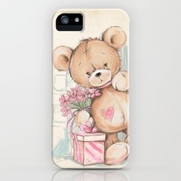 Bear in The Room iPhone Case