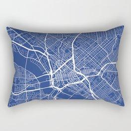 Dallas Map, USA - Blue Rectangular Pillow