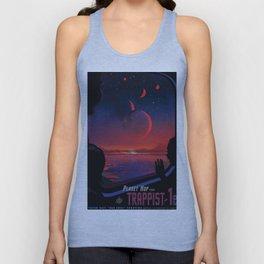 NASA Retro Space Travel Poster #13 - TRAPPIST-1e Unisex Tank Top