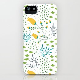Fresh Flowers Pattern iPhone Case