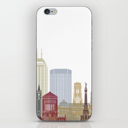 Indianapolis skyline poster iPhone Skin