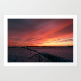 Winterfire Sky Art Print