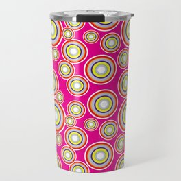 Circles on pink background Travel Mug