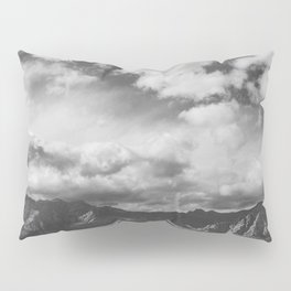 Red Rock Canyon, Las Vegas, Nevada. Mountain Black and White Photograph Pillow Sham