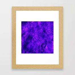 Blue-Violet Flames Framed Art Print