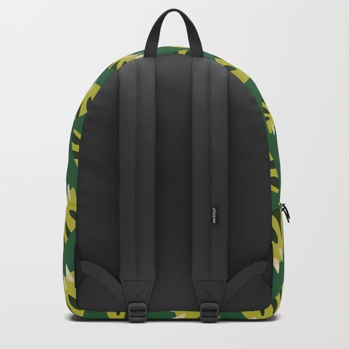 Pretty Clawed Green Leaf Pattern Backpack