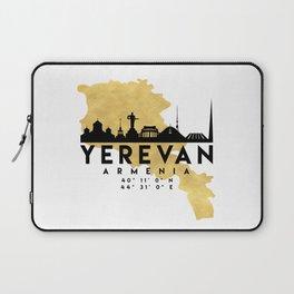 YEREVAN ARMENIA SILHOUETTE SKYLINE MAP ART Laptop Sleeve