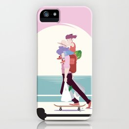 Stay at home dad - Riding your grocery shopping iPhone Case