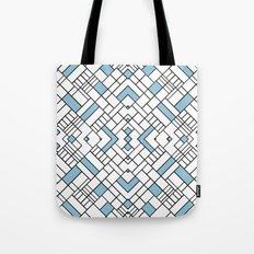PS Grid 45 Sky Blue Tote Bag
