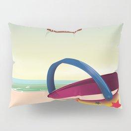 Visit the Seaside travel poster Pillow Sham