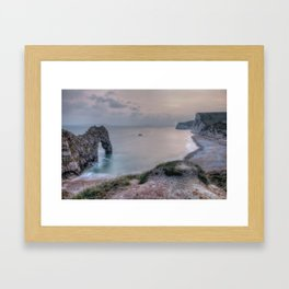 Sunset Landscape Framed Art Print