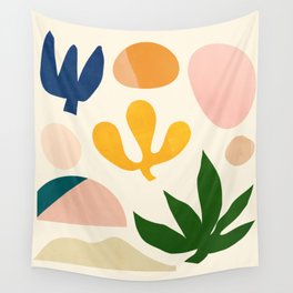 Abstraction_Floral_001 Wall Tapestry