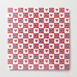 flag of norway 15 – Chalk version  snow,scandinavia,scandinavian,norwegian,oslo Metal Print