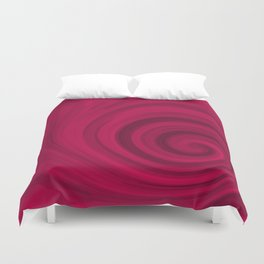 Red abstract pattern Duvet Cover