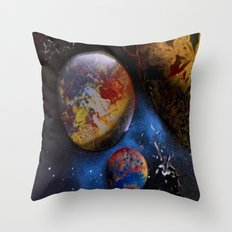 Space Spray Painting  Throw Pillow