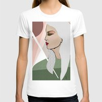 silver T-shirts featuring Silver by Kuralay