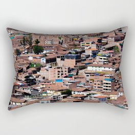 Rooftops of Peru Rectangular Pillow