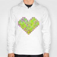 valentines Hoodies featuring Neon Valentines by Fimbis