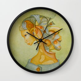 Interwoven thoughts Wall Clock