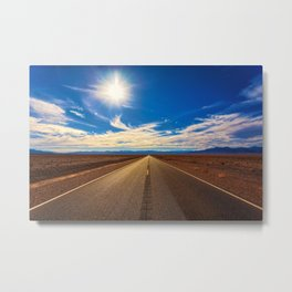 Desert Road on a Sunny Day Metal Print