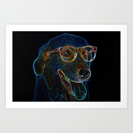 Geek Dog Art Print