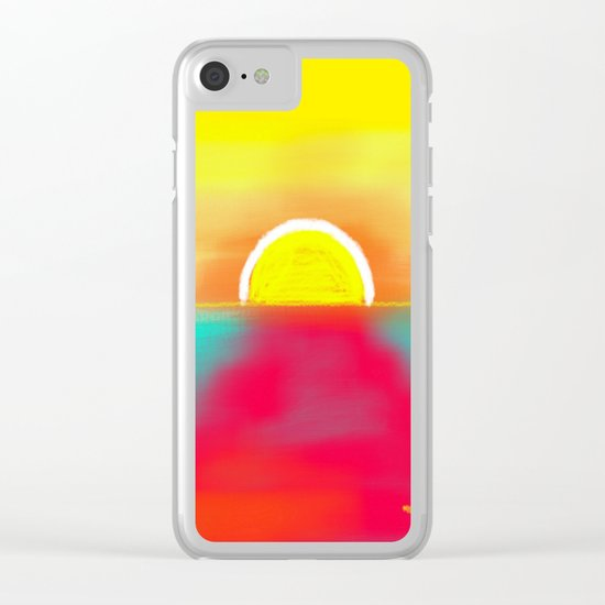 HOT SUNSET Clear iPhone Case