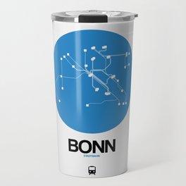 Bonn Blue Subway Map Travel Mug