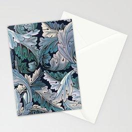 Art Nouveau William Morris Blue Acanthus Leaves Stationery Cards