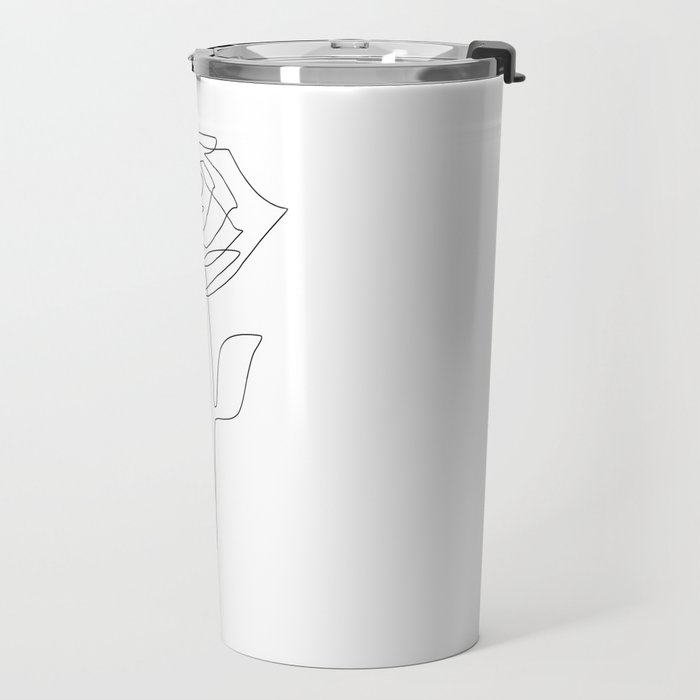 Single Rose Travel Mug