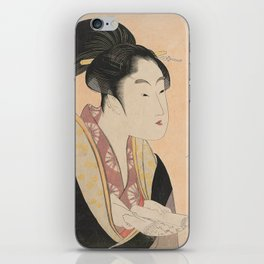 Vintage Japanese Ukiyo-e Woodblock Print Woman Portrait II iPhone Skin