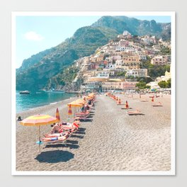 perfect beach day - Positano, Italy Canvas Print