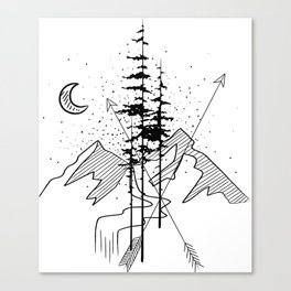 Night Sign Canvas Print
