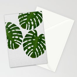 Monstera Leaf III Stationery Cards