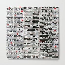 Opportunistic Species (P/D3 Glitch Collage Studies) Metal Print