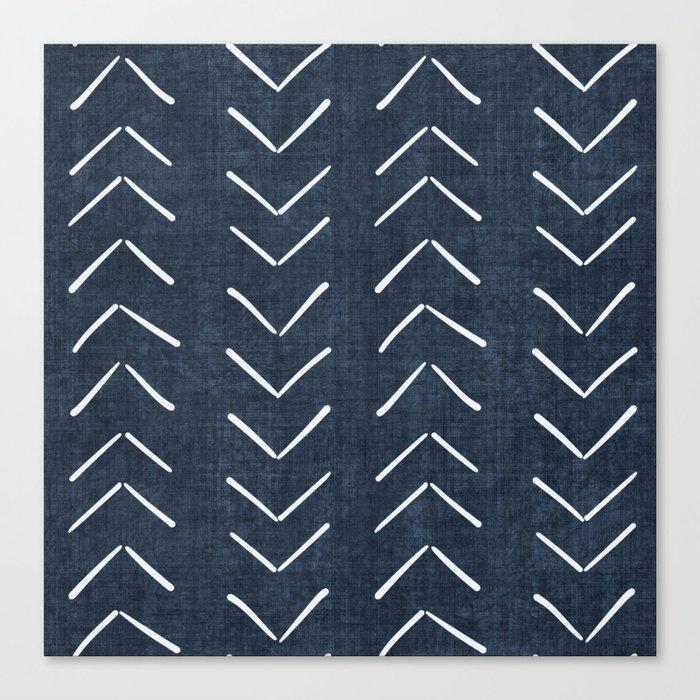 Mud Cloth Big Arrows in Navy Leinwanddruck