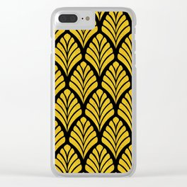 Tangiers Luxurious Black and Gold Art Deco Pattern Clear iPhone Case