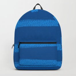 Hatch Marks of Lines in Vibrant Blue on Dark Blue Backpack