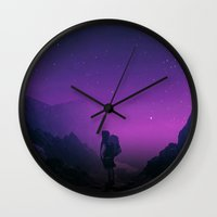 not all those who wander are lost Wall Clocks featuring Not all those who wander are lost  by Stoian Hitrov - Sto