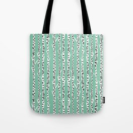 Birch Tree northwest minimal forest woodland nature pattern by andrea lauren Tote Bag