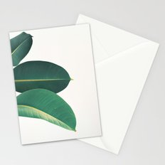Rubber Fig Leaves II Stationery Cards