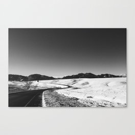 Windy Road Canvas Print